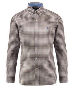 Herren Button-Down-Hemd Slim Fit Langarm